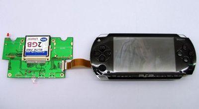 NeoFlash подключили Microdrive к Sony PSP.