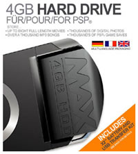 4 Гб винчестер для Sony PSP