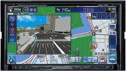 Автомобильный навигатор Kenwood HDV-70 с функциями медиа-плеера
