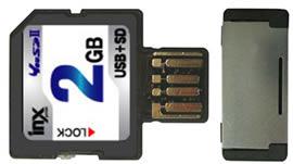 SD карта с возможностью подключения по USB