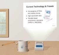Миниатюрный проектор Light Blue Optics для мобильных устройств
