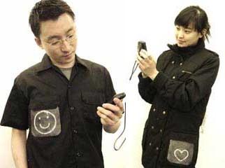 Одежда отобразит эмоции, переданные по SMS