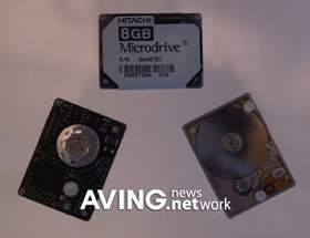 Микродрайв на 8 ГБ от Hitachi по имени Mikey