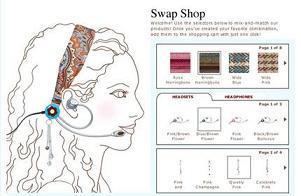 Swapsets: конструктор мобильных гарнитур для девушек