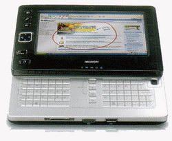 Раздвижной UMPC с клавиатурой