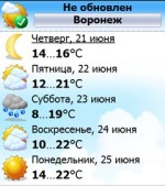 Статья на Ладошках: прогноз погоды для Pocket PC