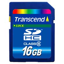 SD HC 16Gb Transcend