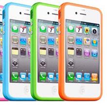 Бамперы для iPhone 4/4s, резиновые, силиконовые чехлы-бамперы